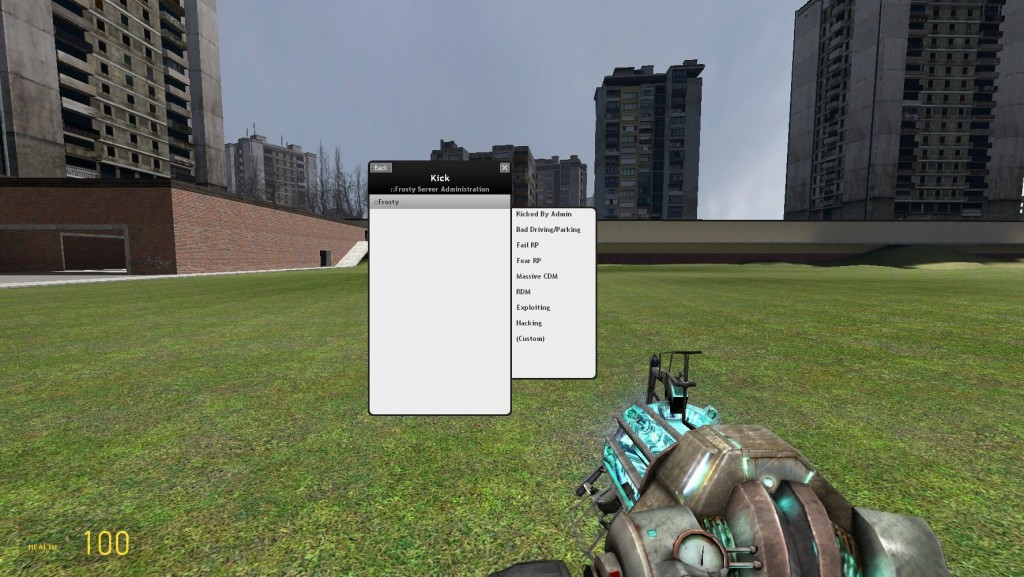 how to kick someone from a gmod server