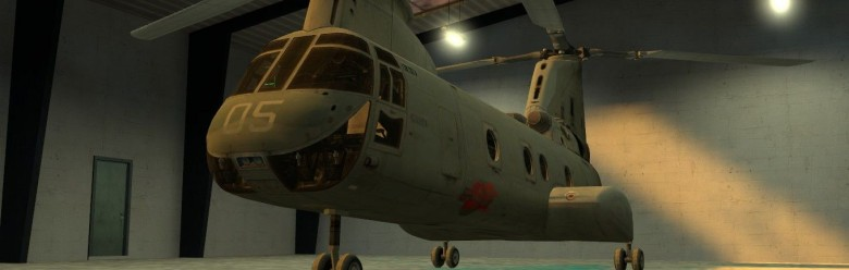 WAC CH-46 Sea Knight Add-on For Garry's Mod Image 1