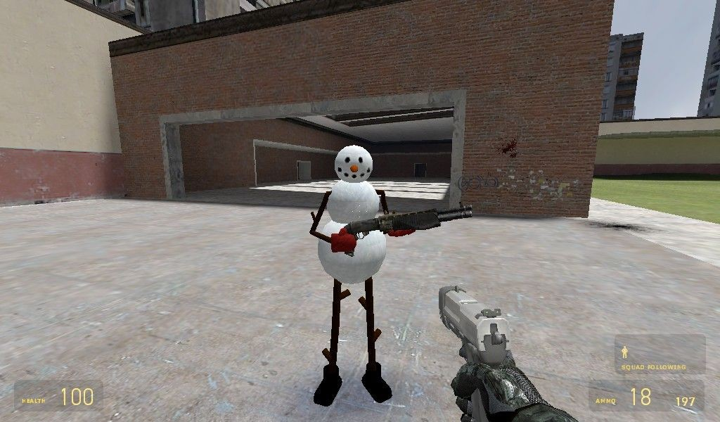 Snow Man Player Model/NPC   garrysmods org