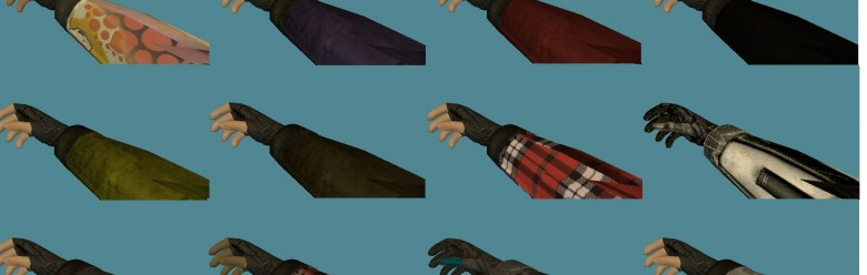 Hand Reskin Pack(12 Hands).zip For Garry's Mod Image 1