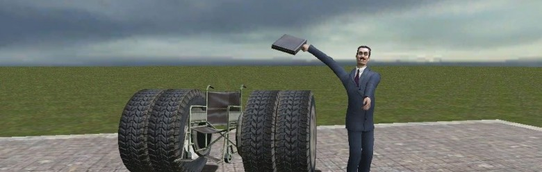 Rocket Wheelchair For Garry's Mod Image 1