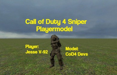 CoD4 Sniper Player For Garry's Mod Image 1