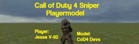 CoD4 Sniper Player