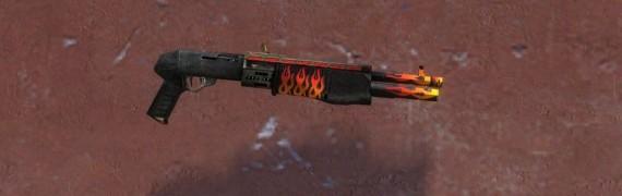 Flaming Shotgun reskin