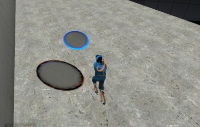 portal_blue_player_skin.zip For Garry's Mod Image 1