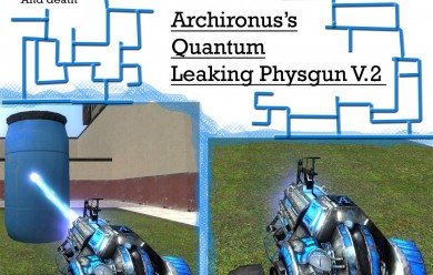 Quantum leak Physgun skin v.2 For Garry's Mod Image 2