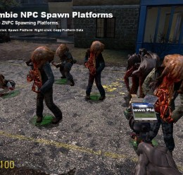Zombie NPC Pack Spawn Platform For Garry's Mod Image 1