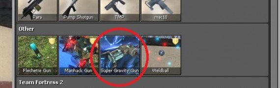 Super Gravity Gun Fix & Icons