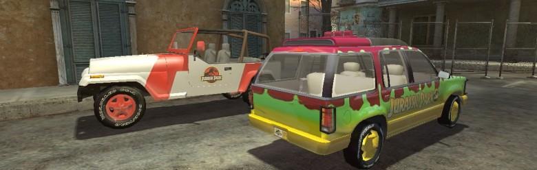Jurassic Park Cars For Garry's Mod Image 1