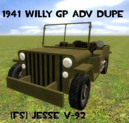 Willy GP AdvDupe WWII WW2 For Garry's Mod Image 1
