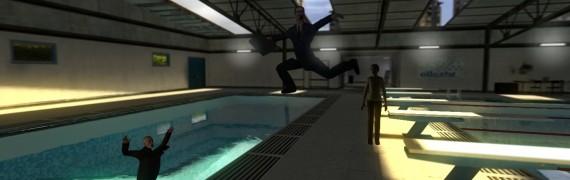 Gman Jumps Into The Pool BG