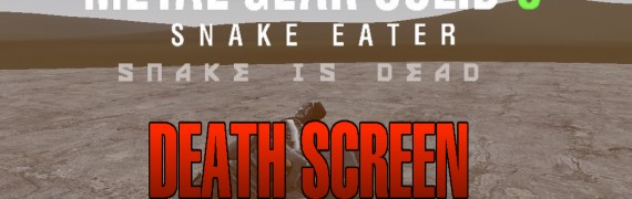 Metal Gear Solid 3 DeathScreen