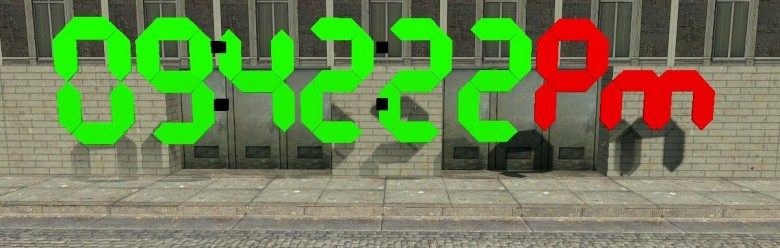 egg'sdigitalclock.zip For Garry's Mod Image 1
