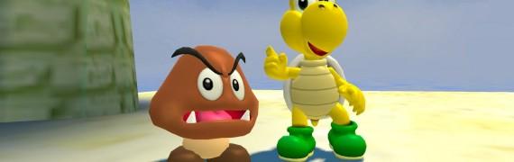 Goomba and Koopa Troopa