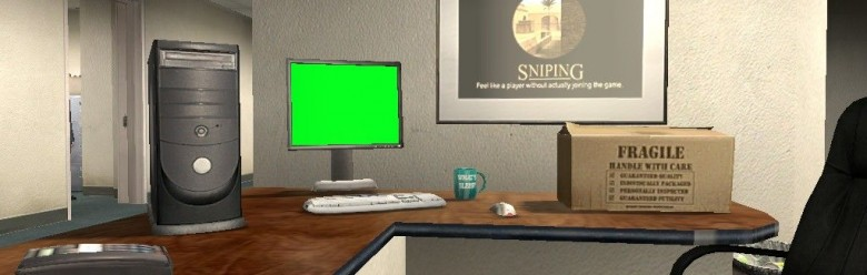 Greenscreen computer For Garry's Mod Image 1