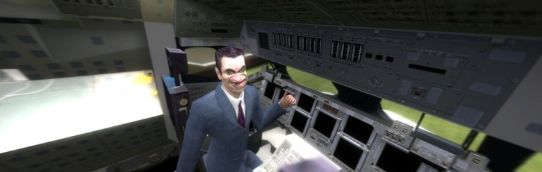 gman_in_space_shuttle_backgrou For Garry's Mod Image 1