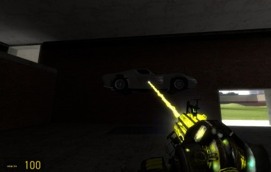 Yellow Physgun with Glove For Garry's Mod Image 2