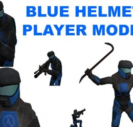 Blue Helmet Player Model For Garry's Mod Image 1