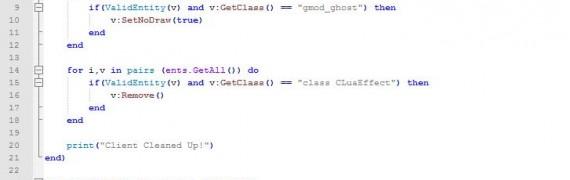 Clientside Cleanup Script