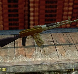 Gold Chechen AK RP Swep For Garry's Mod Image 2