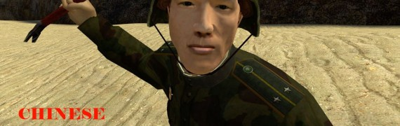 Chinese Soldier Playermodel