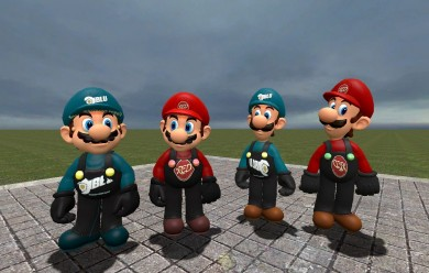 TF2 Styled Mario and Luigi.zip For Garry's Mod Image 1