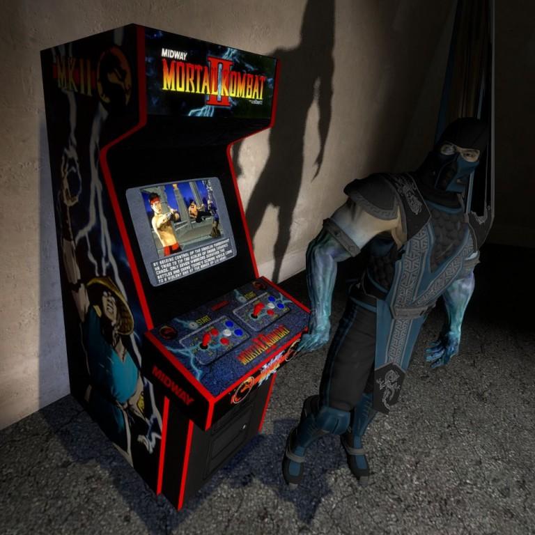 Mortal Kombat 2 Arcade Machine   garrysmods.org