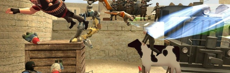 funnyWars gamemode with map For Garry's Mod Image 1