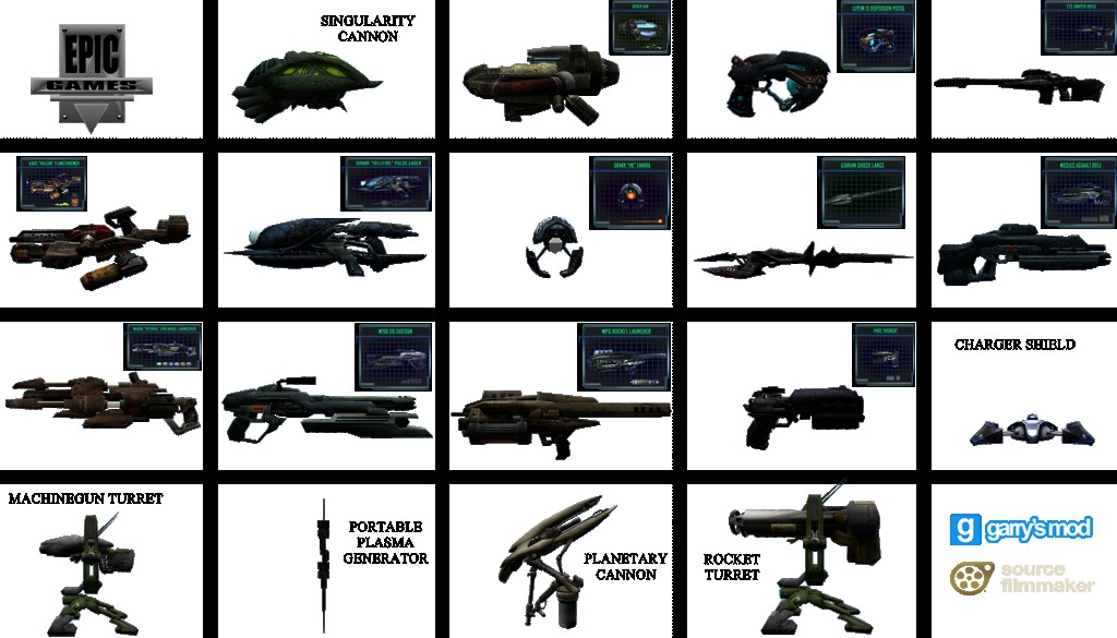 Unreal II: Weapons and Items by Stefano   garrysmods org