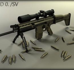 MK17 Mod 0. SV (SCAR-H Sniper) For Garry's Mod Image 1