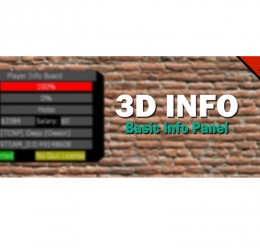 V1.0 3DInfo (Basic Info Panel) For Garry's Mod Image 1