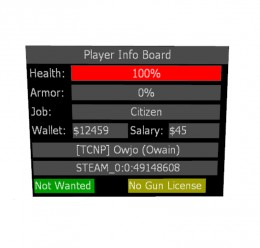 V1.0 3DInfo (Basic Info Panel) For Garry's Mod Image 2