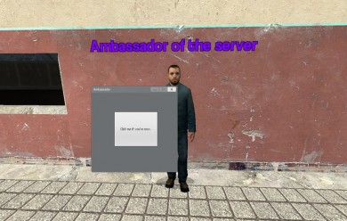 Server Ambassador NPC For Garry's Mod Image 2