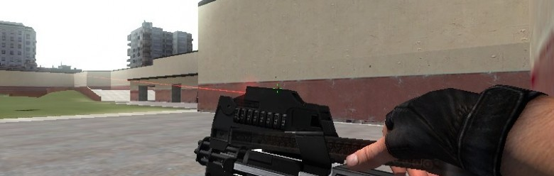 P90 with Minigun Barrel.zip For Garry's Mod Image 1