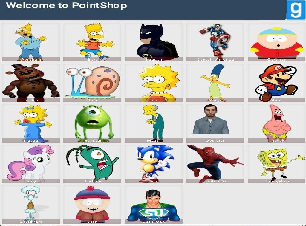 Gmod pointshop accessories