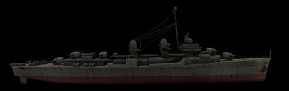 CoD WaW Allied USA ships props