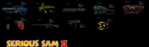 Serious Sam II Guns (Ragdolls)