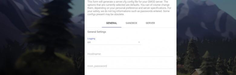 Garry's Mod Server CFG Maker For Garry's Mod Image 1