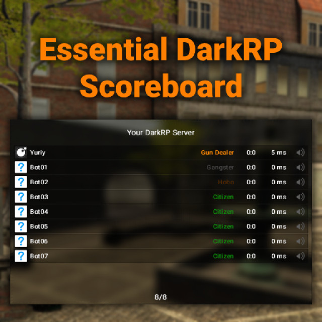 Essential DarkRP Scoreboard by Yuriy | garrysmods org