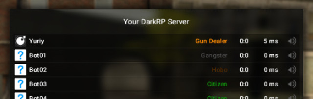 Essential DarkRP Scoreboard For Garry's Mod Image 1