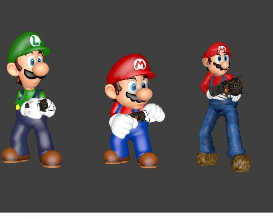 Mario Bros  Playermodels by Captain Charles | garrysmods org