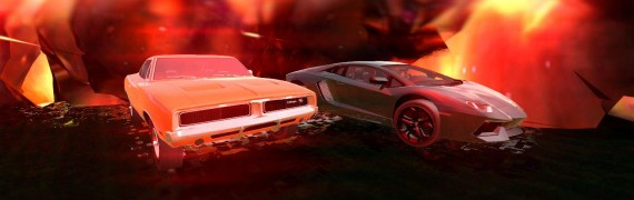 Dodge Charger & Lambo Aventado