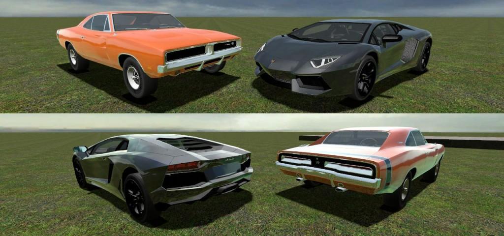 Dodge Charger & Lambo Aventado | garrysmods org