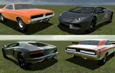 Dodge Charger & Lambo Aventado For Garry's Mod Image 2