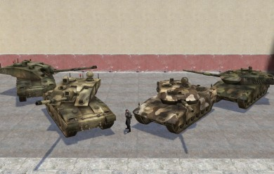 BF2 Leo 2A6 and Challenger 2 For Garry's Mod Image 1
