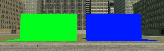 Chromakey prop [Green and blu]