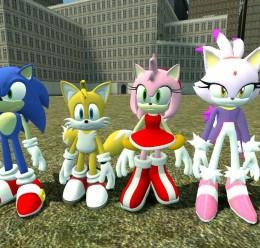 Sonic,Tails,Amy,Blaze Reskins. For Garry's Mod Image 1