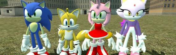 Sonic,Tails,Amy,Blaze Reskins.