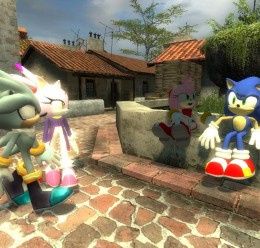Sonic,Tails,Amy,Blaze Reskins. For Garry's Mod Image 3