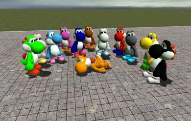 12 Yoshi's.zip For Garry's Mod Image 1